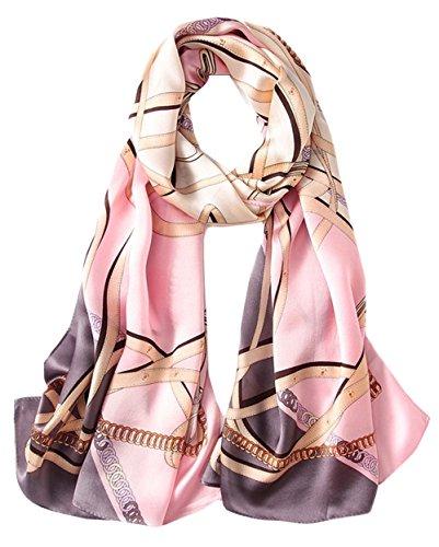Printemps Impression 3 Foulard Soie Ete All Uv Hiver Coloré Echarpe Chale Femme 5 Anti Grand Longue Rosa En qZFIwTg