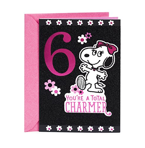 Hallmark 6th Birthday Greeting Card for Girl (Belle