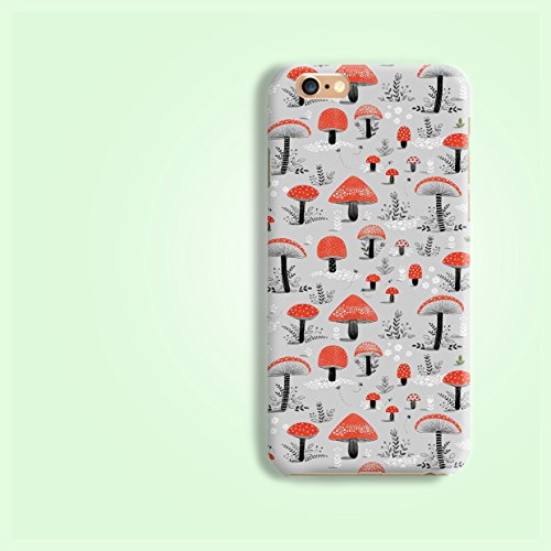 mushroom-pattern-matt-finishes-rigid-hard-phone-case-cover-for-iphone-4-4s-5-5s-se-6-7-6s-plus-samsu