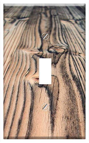Switch Plate Single Toggle - Wood Floor Floor Planks Spruce Beech Fir Material