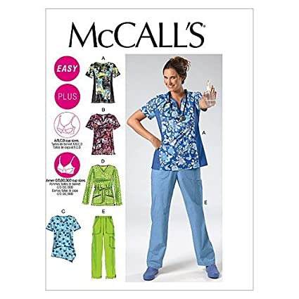 McCall's Patterns M6473 Misses'/Women's Tops and Pants, Size B5  (8-10-12-14-16)