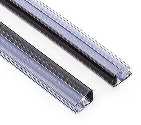 Joint Douche Magnetique Joint Étanchéité Douche Joints Douche Épaisseur de Verre de 4mm à 6mm Joint de Rechange Joint de Douche Magnetique 2 pièces Joint pour Douche PS016 50cm Rolli