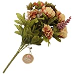 Duovlo-Fake-Flowers-Vintage-Artificial-Peony-Silk-Flowers-Wedding-Home-DecorationPack-of-1-Coffee