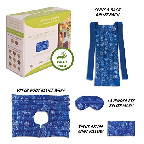 Nature Creation Ultimate Set- Herbal Heat Pack/Cold Pack - Hot and Cold Therapy (Blue Flower)