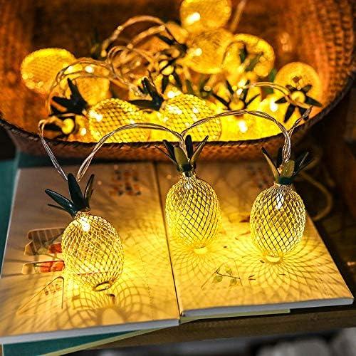 ykxykw Ananas Fee LED Lichterkette Hochzeitsfeier Urlaub Beleuchtung Dekor Girlande Lampen LEDs Batteriebetrieben-1M 10LEDs