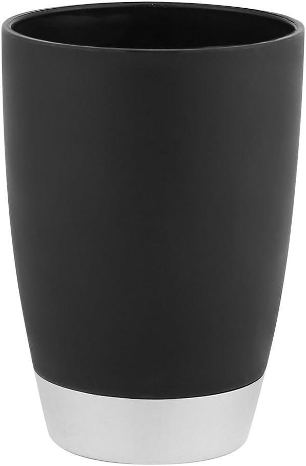 Toothbrush Holder Yosooo Bathroom Accessories Set Black 4 Pcs//Set Bath Ensemble Soap Dispenser Tumbler /& Soap Dish
