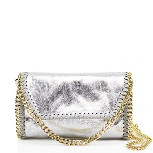 LeahWard? Women's Chain Trim Bags Faux Leather Cross Body Bags For Women Party Handbags CW932 SILVER G