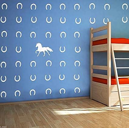 Amazon Com Melissalove Horse Horseshoes Removable Wall Decor