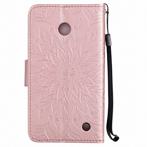 Nokia Custodia Portafoglio Bumper LEMORRY TPU Silicone Lumia Rosa 630 Cover oro Pelle Morbido Magnetico Sottile Cuoio Flip Protettivo Lumia per della Fiorire 630 Nokia Borsa dei Custodia wvq0qAfHt