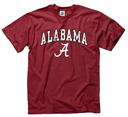 Campus Colors Alabama Crimson Tide Adult Arch & Logo Soft Style Gameday T-Shirt - Crimson, Large
