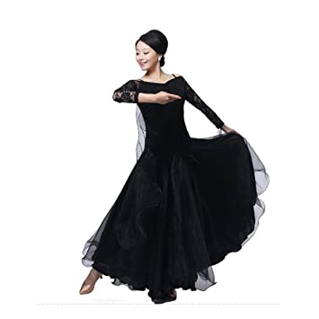 BellyQueen Women Modern Waltz Tango Dancing Clothes Ballroom Dance Skirts