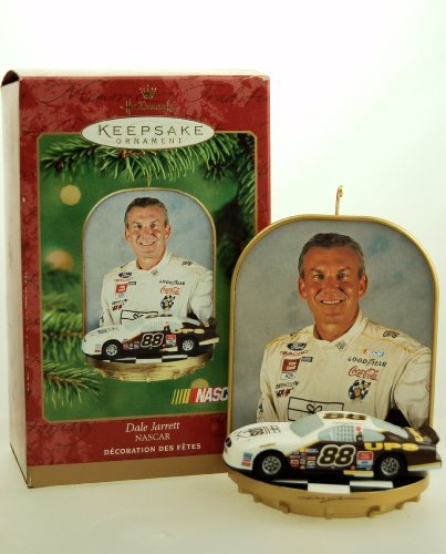(1 X 2001 - Hallmark - Keepsake Ornament - NASCAR - Dale Jarrett #88 - UPS Racing - Ford Taurus - Christmas Tree Ornament - Limited Edition - Collectible )
