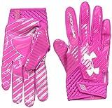 Under Armour Men's Spotlight Football Gloves,Tropic Pink (654)/White, Small/Medium