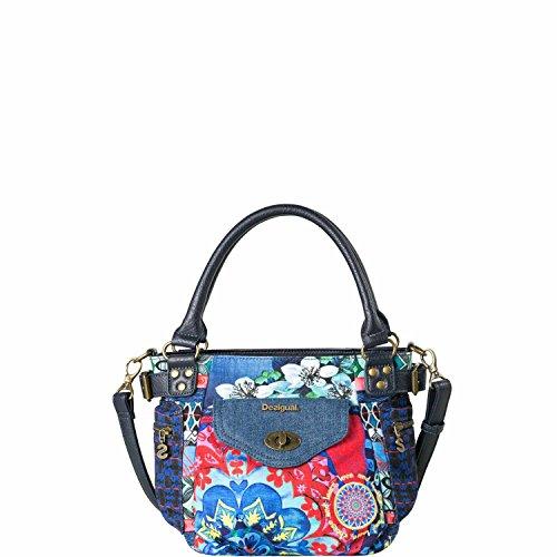 Desigual Bols Mini McBEE Culture Club across Body Bag Bolsa de hombro Marino (Azul)