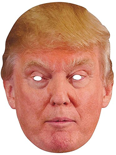 [Donald Trump Paper Mask] (Two Face Costume For Kids)