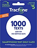 Wireless : Tracfone 1000 Text Message PIN Refill Card, Only for Smartphones, Delivered through the mail, no minutes / data included