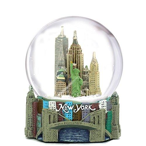 New York Snowglobe - Skyline New York City Snow Globe Souvenir, 3.5 Inches Tall, 65mm