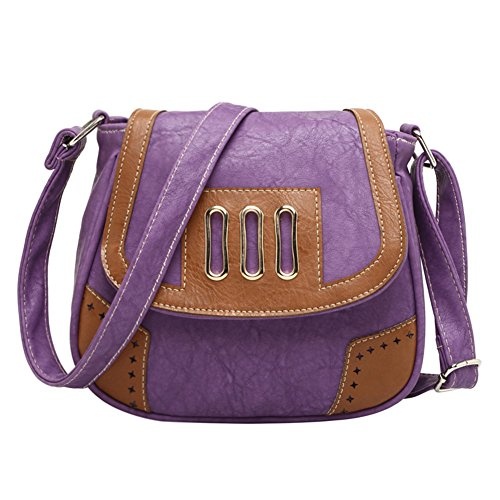 Red Womens Messenger Tote Vintage Leather Purse Shoulder Faux Satchel Purple Handbag Bag PRwqHrPB