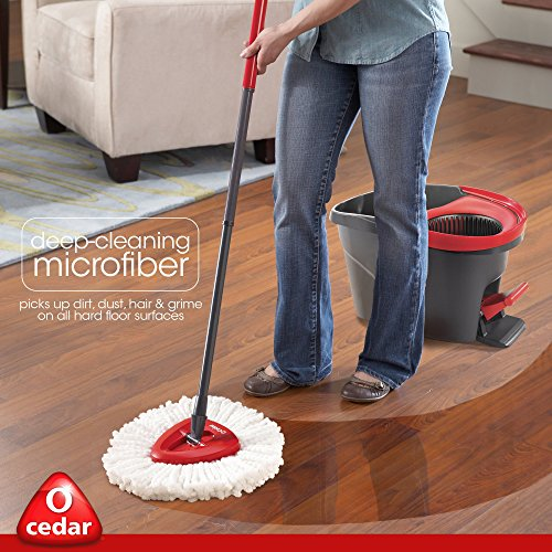 O-Cedar EasyWring Microfiber Spin Mop and Bucket Cleaning System