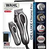WAHL 79524-5201 Deluxe Chrome Pro Haircutting Kit 25 Piece