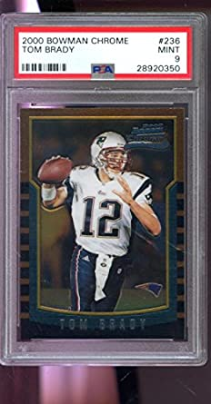Amazoncom 2000 Bowman Chrome 236 Tom Brady Rookie Rc Mint Psa 9