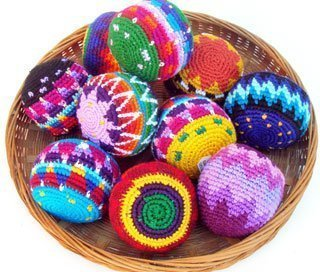 Penny Lane Brand Hacky Sack Imported From Guatamala Set of 3 ()