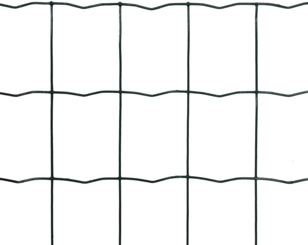 vidaXL Euro Fence 10x0.8m with 100x100mm Mesh Outdoor Screen Panel Enclosure