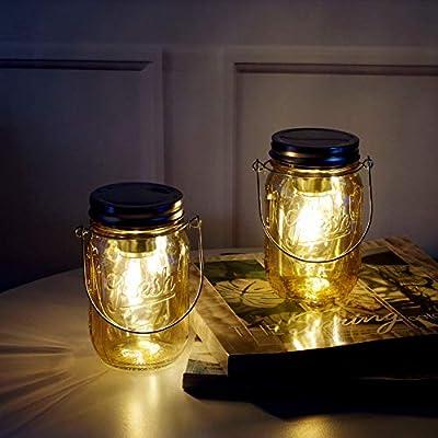 MJ PREMIER Mason Jar Light Lanterns Hanging for Decorations