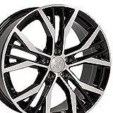 vw rims 18 - OE Wheels 18 Inch Fits Volkswagen GTI Jetta EOS CC Tiguan Rabbit Passat Golf Beetle GTI Style Offset 45mm VW28 Gloss Black Machined 18x8 Rim