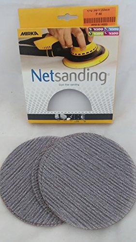 UPC 670739485531, Mirka 9a-241-080 6-inch 80 Grit Mesh Abrasive Dust Free Sanding Discs, Box of 10 Discs