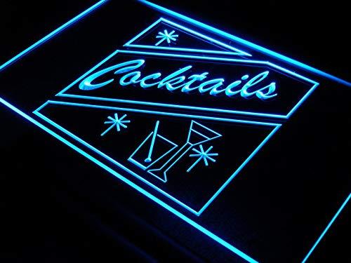 Cartel Luminoso ADV PRO i191-b OPEN Cocktails Bar Pub Club ...