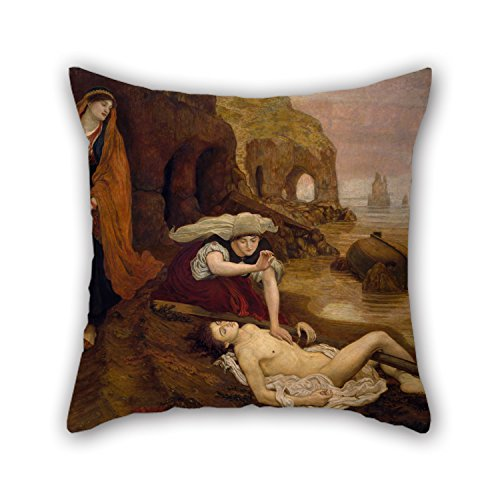 20 X 20 Inches / 50 By 50 Cm Oil Painting Ford Madox Brown - Finding Of Don Juan By Haidee Cushion Cases ,2 Sides Ornament And Gift To Him,coffee House,living