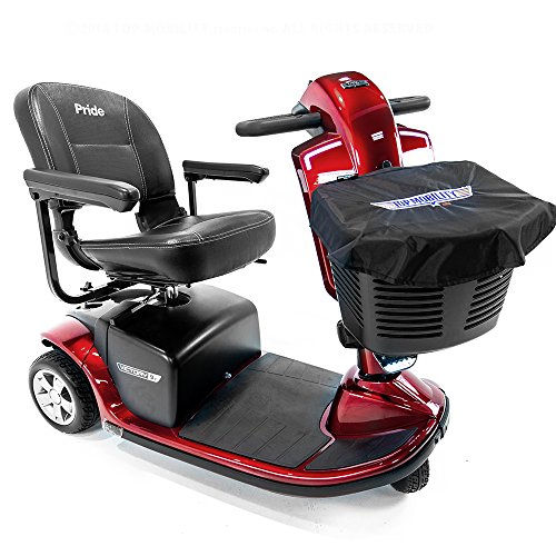 Pride Victory 9.2 Red 3-Wheel Electric Scooter S6092 + Top Mobility Front Basket Bag ()