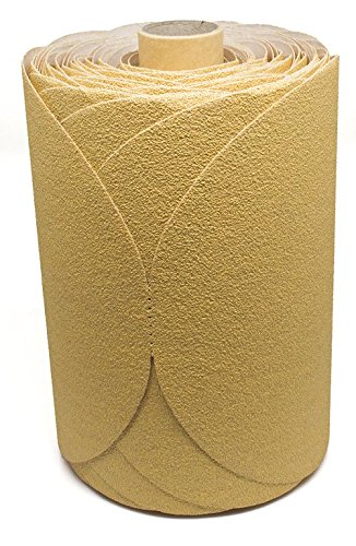 6'' Discs on a Roll - PSA Gold DA Sanding Paper (100 Discs - 220 Grit) by Benchmark Abrasives (Image #1)
