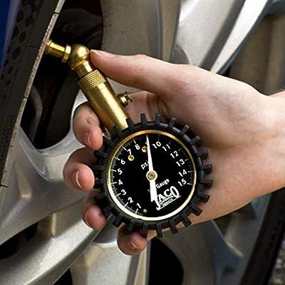 JACO Elite Tire Pressure Gauge - 15 PSI: Automotive