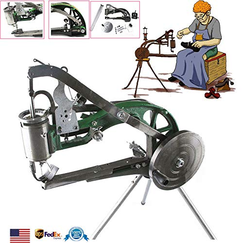 Shoes Sewing Machine Manual Shoe Mending Repair Machine Hand Cobbler Shoe Repair Making Shoe Leather Stitching Equipment Nylon Line Industrial Hand Sewing Tools for Shoesmakers