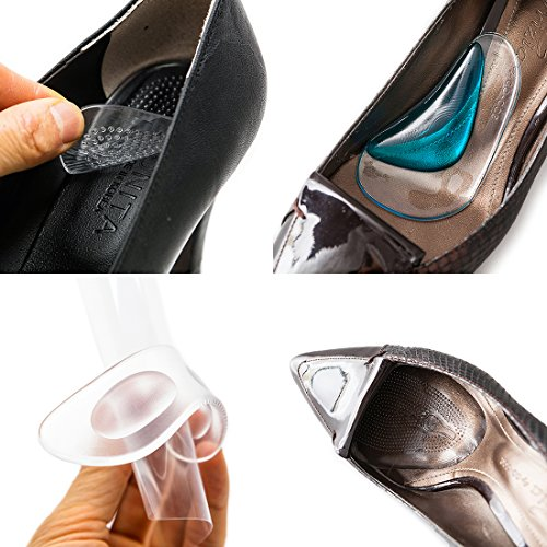 Footinsole Arch Support Inserts Foot Care Kit  8 Pcs    Includes 4 Essential Foot Pads   Heel Liner