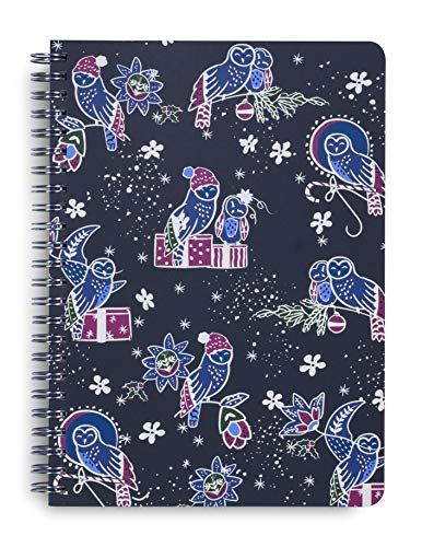 Vera Bradley Notebook - Vera Bradley Holiday Mini Spiral Notebook With Pocket, 6.25