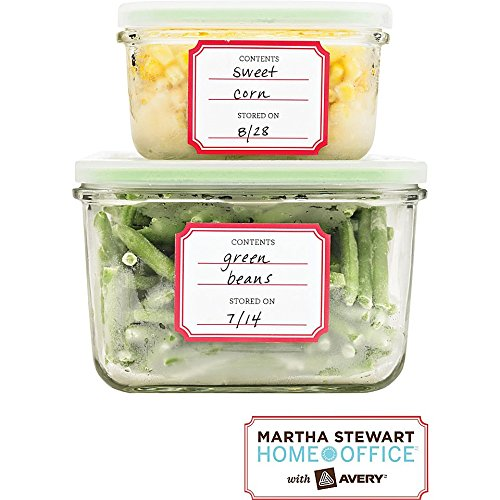 Martha Stewart Home Office with Avery Pre-Printed Kitchen Labels, 1-3/4 x 2-1/4, 24/Pack