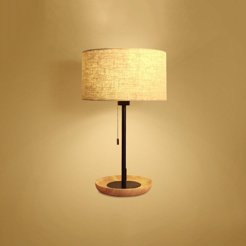 Wooden Table Lamp Nordic Simple Creative Student Children Desk Desk Lamp Bedroom LED Bedside Lamp Decorative Set Energy Saving Desk Lamp