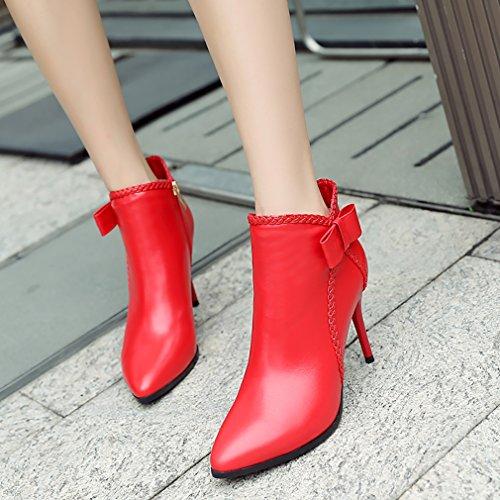 Vaneel Women Stiletto Zipper vpn3 9CM Boots UK 4 Red wwdq6U