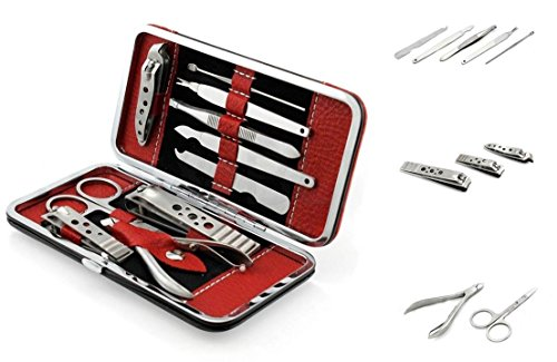 Stainless 10-in-1 Manicure Set with Case Set of 3 - 5