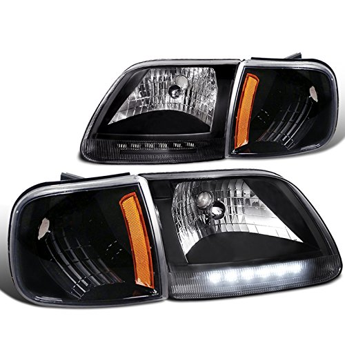 Spec-D Tuning 2LCLH-F15097JM-RS Headlight (Combo: 97-03 Ford F150 + C.L.)
