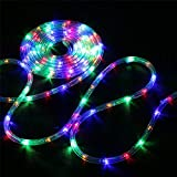 Bebrant LED Rope Lights Christmas String Lights Battery Operated-40Ft 120 LEDs 8 Modes Outdoor Waterproof Fairy Lights Dimmable/Timer with Remote for Garden Party Decoration (Multi-Color)
