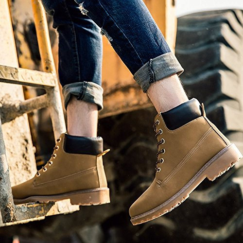SITAILE Men Women Comfortable Ankle Boots Lace up Waterproof Combat Work Safety Shoes by SITAILE (Image #5)