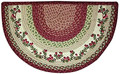 EarthRugs 32-390 Cranberries Slice Rug, 18-Inch by 29-Inch, Burgundy/Crème/Green