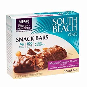 South Beach Diet Snack Bar, Whipped Chocolate Almond, 5-Count (Pack of 8)