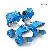 Outinpro Kid's Children's Adjustable Speed Quad Roller Skates Shoes Blue