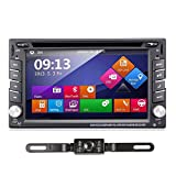 TOCADO 6.2'' Car Stereo Radio Double 2 DIN Navigation TouchScreen Car DVD Player In-dash Car Audio AM/FM Radio Bluetooth USB SD Ipod with Backup Camera