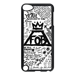 Fall Out Boy Arte Lírico caso G8J16B8EE funda iPod Touch 5 funda 5282UX negro